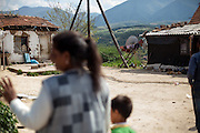 Ljutvia Demyrova - a 29 years old mother of 8 children at the local Roma community during the European Immunization Week in the city of Vinica in Macedonia.