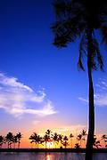 Sunset over Waikoloa Beach Hawaii