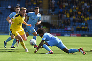 Oxford United midfielder James Henry (17)  sprints forward with the ball during the EFL Sky Bet League 1 match between Oxford United and Coventry City at the Kassam Stadium, Oxford, England on 9 September 2018.