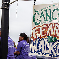 Encourgaing signs were hung up all along the McKinley County Courthouse Square Friday evening for the Relay For Life event that was held on June 15, 2018.