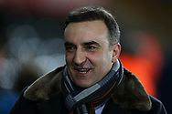Carlos Carvalhal , the Swansea city manager arrives ahead of the game. Premier league match, Swansea city v Liverpool at the Liberty Stadium in Swansea, South Wales on Monday 22nd January 2018. <br /> pic by  Andrew Orchard, Andrew Orchard sports photography.