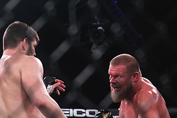 December 30, 2018 - United States - Philipe Lins of Brazil had a knockout victory over American Josh Copeland,winning $1 million during the Heavyweight category of PFL 2018 World Championships at Hulu Theater-Madison Square, New York. (Credit Image: © Niyi Fote/Pacific Press via ZUMA Wire)