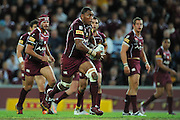May 25th 2011: Petero Civoniceva of the Maroons runs the ball during game 1 of the 2011 State of Origin series at Suncorp Stadium in Brisbane, Australia on May 25, 2011. Photo by Matt Roberts/mattrIMAGES.com.au / QRL