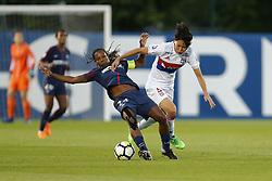 May 18, 2018 - Saint Germain En Laye, France - Formiga Miraildes Maciel Mota (PSG ) vs Saki Kumagai  (Credit Image: © Panoramic via ZUMA Press)