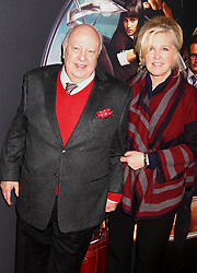 Feb. 9, 2015 - New York, New York, U.S. - CEO Fox news ROGER AILES and his wife ELIZABETH AILES attend the New York Premiere of 'Kingsman: Secret Service' held SVA Theatre. (Credit Image: © Nancy Kaszerman/ZUMAPRESS.com)