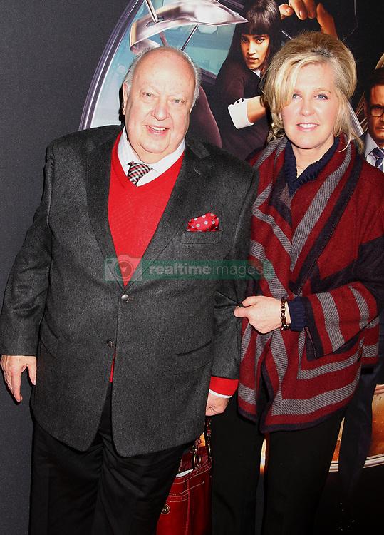 Feb. 9, 2015 - New York, New York, U.S. - CEO Fox news ROGER AILES and his wife ELIZABETH AILES attend the New York Premiere of 'Kingsman: Secret Service' held SVA Theatre. (Credit Image: © Nancy Kaszerman/ZUMAPRESS.com)