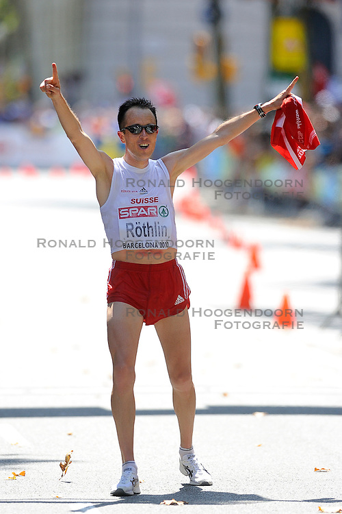 01-08-2010 ATLETIEK: EUROPEAN ATHLETICS CHAMPIONSHIPS: BARCELONA <br /> Viktor Rothlin (SUI) - Winner Marathon Men Final <br /> ©2010-WWW.FOTOHOOGENDOORN.NL