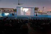 A screening at the Ciné Ourbi open-air cinema during FESPACO film festival in Ouagadougou, Burkina Faso