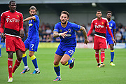AFC Wimbledon Callum Kennedy (23) during the Pre-Season Friendly match between AFC Wimbledon and Watford at the Cherry Red Records Stadium, Kingston, England on 15 July 2017. Photo by Jon Bromley.