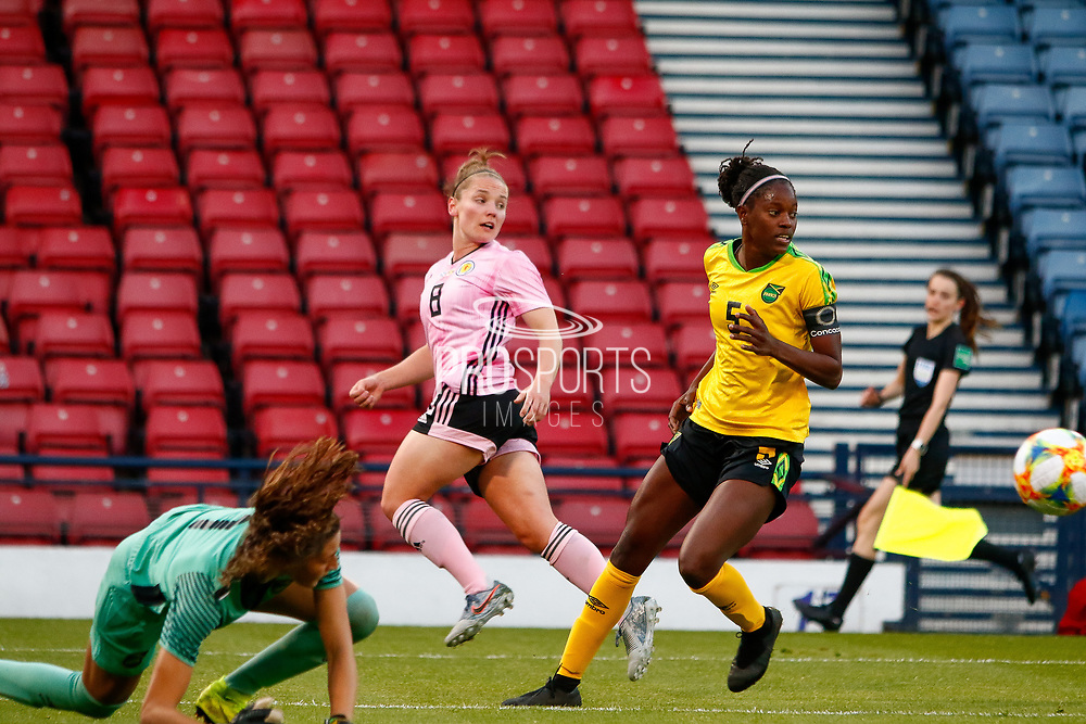 Kim LITTLE (Arsenal WFC (ENG)) of Scotland with a shot on goal during the International Friendly match between Scotland Women and Jamaica Women at Hampden Park, Glasgow, United Kingdom on 28 May 2019.