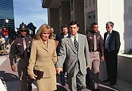 Arlington, VA 1997/10/25 Marv Albert leaves Arlington Virginia court house after sentencing.<br />Photo by Dennis Brack