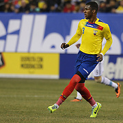 Frickson Erazo, Ecuador, in action during the Argentina Vs Ecuador International friendly football match at MetLife Stadium, New Jersey. USA. 15th November 2013. Photo Tim Clayton