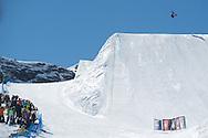 Shaun White during Men's Snowboard Slopestyle Finals at Winter X Games Europe 2012 in Tignes, France. ©Brett Wilhelm/ESPN