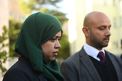 Mohammed Raqeeb and Shelina Begum, the parents of Tafida Raqeeb, attend an official welcome organised by CITIZENGO Italy, outside the Gaslini Hospital in Genoa. Five-year-old Tafida's parents won a High Court battle with hospital bosses earlier this month, when a judge ruled the youngster could be moved to the Italian hospital.