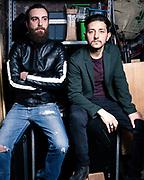 """Gianni Spezzano e Adriano Pantaleo (Nest) ritratti per lo spettacolo """"Non plus ultras"""" del Fringe Festival. Deposito del Magazzino su Po, Torino."""