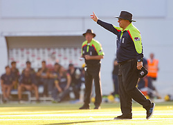 Umpire Neil Bainton in action today <br /> <br /> Photographer Simon King/Replay Images<br /> <br /> Vitality Blast T20 - Round 8 - Glamorgan v Gloucestershire - Friday 3rd August 2018 - Sophia Gardens - Cardiff<br /> <br /> World Copyright © Replay Images . All rights reserved. info@replayimages.co.uk - http://replayimages.co.uk