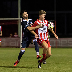 7th April 2017 - NPLQLD Senior Men RD7: Olympic FC v Brisbane City