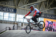 #193 (RAIUSHKIN Mikhail) RUS at Round 2 of the 2019 UCI BMX Supercross World Cup in Manchester, Great Britain