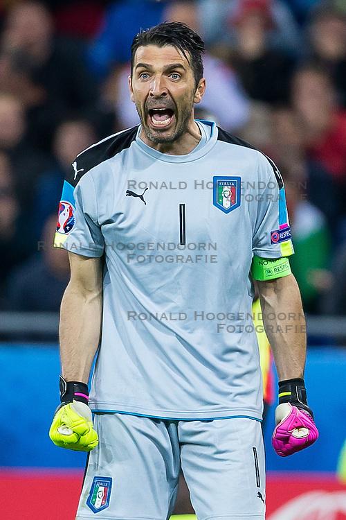 13-06-2016 FRA: UEFA EURO Belgie - Italie, Lyon<br /> België verliest met 2-0 van Italie / Gianluigi Buffon<br /> <br /> ***NETHERLANDS ONLY***