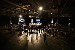 © Licensed to London News Pictures. 06/11/2019. Birmingham, UK. Prime Minister Boris Johnson is surrounded by supporters as he launches the Conservative Party election campaign in Hall Six at the NEC in Birmingham. Today is the first oficial day of the 2019 general election. Voters go to the polls on December 12th 2019. Photo credit: Peter Macdiarmid/LNP