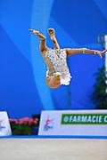 Hayakawa Sakura during qualifying at ball in Pesaro World Cup 1 April, 2016. Sakura is a Japan rhythmic gymnastics athlete born March 17, 1997 in Osaka, Japan. She appeared in Senior competitions in the 2013 season.