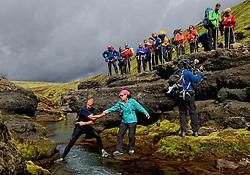 09-07-2014 ISL: Iceland Diabetes Challenge Dag 5, Emstrur<br /> Van Alftavatn naar Emstrur / Leontien