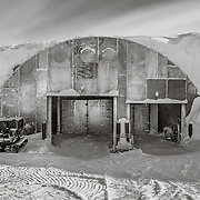 Garage Shops Archway, where mechanics repair and maintain vehicles used at South Pole Station.