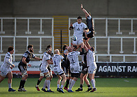 Rugby Union  - 2020 / 2021 Gallagher Premiership - Newcastle Falcons vs Gloucester - Kingston Park<br /> <br /> Matias Alemanno of Gloucester Rugby wins a lineout<br /> <br /> COLORSPORT/BRUCE WHITE