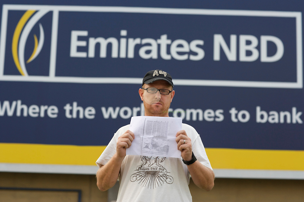 """Nick Warner: homeless in Dubai. Nicholas Warner is British and sleeping on the street in Dubai. He got into a dispute with his bank, Emirates NBD, initially over whether his credit card repayments had been made. He went on holiday at Christmas and the bank says that by leaving the country without its permission while they were in a dispute, he got reclassified as a so-called """"debt skipper"""" - one of the many expats who leave Dubai in a hurry with large debts, never to return. When he arrived back at Dubai airport, he was arrested. His passport was seized by police on the authority of the bank. Although he was released and tried to negotiate with the bank he got into further difficulties. He had been working as a strategy adviser for an alternative medicine company, but his employer decided it was safer to let him go while he sorted everything out. Emirates NBD is refusing to let his passport be released until the debts are paid. Nicholas has no way of paying them without a job. And he cannot get a job without being able to show he's in the country legally. For that, he needs his passport."""