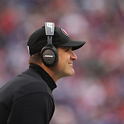 Jim Harbaugh, San Francisco 49ers head coach, on the sideline during the New York Giants V San Francisco 49ers, NFL American Football match at MetLife Stadium, East Rutherford, NJ, USA. 16th November 2014. Photo Tim Clayton