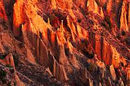 Stob pyramids in autumn at sunset