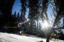 Dominik Windisch (ITA) during Men 15 km Mass Start at day 4 of IBU Biathlon World Cup 2015/16 Pokljuka, on December 20, 2015 in Rudno polje, Pokljuka, Slovenia. Photo by Ziga Zupan / Sportida