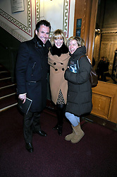 Left to right, GABBY LOGAN and her husband rugby player KENNY LOGAN and PENNY SMITH at the Cirque du Soleil's gala premier of Quidam held at the Royal Albert Hall, London on 6th January 2009
