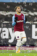 Said Benrahma (9) of West Ham United comes on to the pitch during the Premier League match between West Ham United and West Bromwich Albion at the London Stadium, London, England on 19 January 2021.