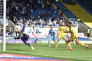 Oxford United defender John Mousinho (15) deflects the ball into his own net 0-1 during the EFL Sky Bet League 1 match between Oxford United and Coventry City at the Kassam Stadium, Oxford, England on 9 September 2018.