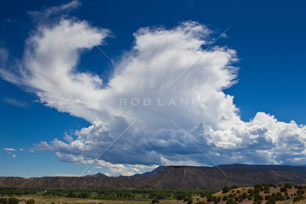 Dramatic cloud formation in Abiquiu, New Mexico