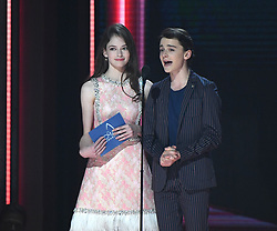 Performances and awards presentations during the 52nd Annual CMA Awards at the Bridgestone Arena hosted by Carrie Underwood and Brad Paisley. 14 Nov 2018 Pictured: Mackenzie Foy and Noah Schnapp. Photo credit: MBS/MEGA TheMegaAgency.com +1 888 505 6342