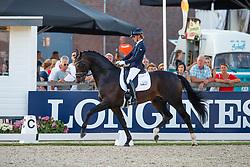 Scholtens Emmelie, NED, Hero Of Holland<br /> World ChampionshipsYoung Dressage Horses<br /> Ermelo 2018<br /> © Hippo Foto - Dirk Caremans