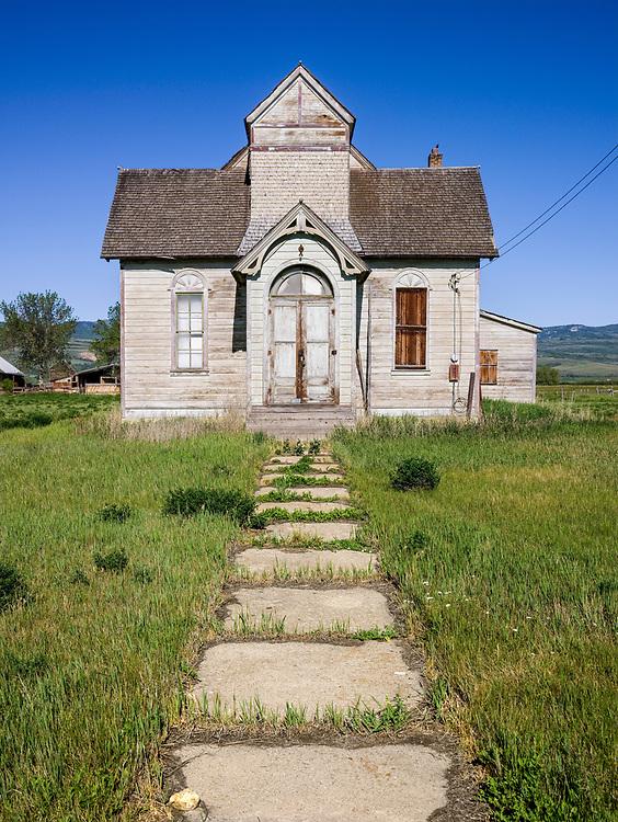 Open Edition<br /> Old Mormon church sits forlorn near Paris Idaho near Bear Lake on the Utah Idaho border