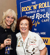 03/11/2016 Repro fee: Rita Gilligan's book The Rock 'n' Roll Waitress from The Hard Rock Cafe My Life in Hotel Meyrick, Galway was launched my Cllr. Noel Larkin Mayor of Galway. At the launch were Debbie Galbraith Hard Rock Cafe and author Rita Gilligan.   Photo :Andrew Downes, XPOSURE