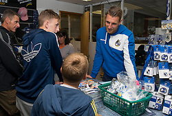 Bristol Rovers' Lee Brown speaks with a fan  - Mandatory by-line: Dougie Allward/JMP - 07966386802 - 26/07/2015 - SPORT - FOOTBALL - Bristol,England - Memorial Stadium - Bristol Rovers Open Day - Bristol Rovers Open Day