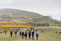 Earl Mountbatten Hospice 25th anniversary Walk the Wight Sunday 10th May 2015. Early afternoon up and around Tennyson Memorial.