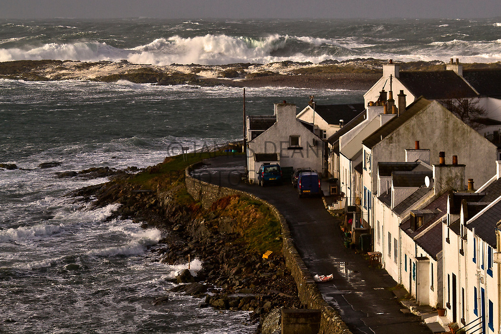 Stormy seas in Portnahaven, Islay during February 2013