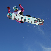 Aluan Ricciardi, France, in action during the Men's Halfpipe competition at the Burton New Zealand Open 2011 held at Cardrona Alpine Resort, Wanaka, New Zealand, 10th August 2011. Photo Tim Clayton