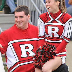 Oct 31, 2009; East Hartford, CT, USA; Cheerleaders wait during an injury timeout during second half Big East NCAA football action in Rutgers' 28-24 victory over Connecticut at Rentschler Field.