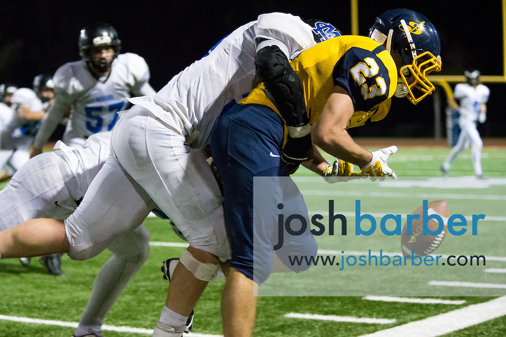 Crean Lutheran's Nick Ellwein (23) during the CIF-SS East Valley Divison Second Round  at Irvine High School on Friday, November 20, 2015 in Irvine, California. (Photo/Josh Barber)