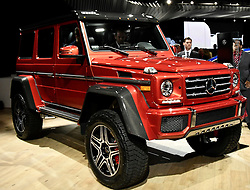Nov 16, 2016. Los Angeles CA. Mercedes G-Class 4x4 on display during the media day at the Los Angeles Auto show Wednesday. The show opens to the public on Nov 18th to the 27th.  photos by Gene Blevins/LA DailyNews/ZumaPress. (Credit Image: © Gene Blevins via ZUMA Wire)