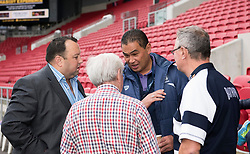 Bristol Rugby Head Coach Pat Lam chats with guests of matchday sponsors W.S.S.I. Limited - Mandatory by-line: Paul Knight/JMP - 22/10/2017 - RUGBY - Ashton Gate Stadium - Bristol, England - Bristol Rugby v Doncaster Knights - B&I Cup