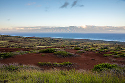 Lenai With Molokai In Background