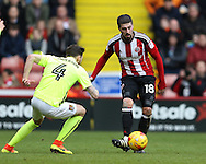 Kieron Freeman of Sheffield Utd and Paul Anderson of Northampton during the English League One match at Bramall Lane Stadium, Sheffield. Picture date: December 31st, 2016. Pic Simon Bellis/Sportimage